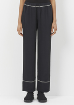 Marni black contrast piping trouser