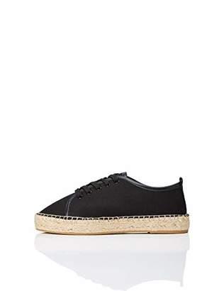 Amazon Brand - find. Women's Espadrilles Sneaker Black)