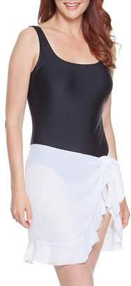Dotti Summer Sarong Ruffled Short Pareo Cover-Up