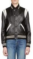 Saint Laurent Classic Leather Teddy Jacket