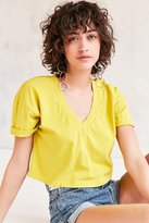 Truly Madly Deeply Cooper Crop V-Neck Tee