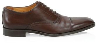 Saks Fifth Avenue Delancey Cap Toe Leather Brogue Oxfords