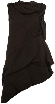 Rick Owens asymmetric draped mini dress