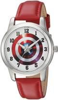Marvel Men's 'Captain America' Quartz Metal Casual Watch, Color: (Model: WMA000002)