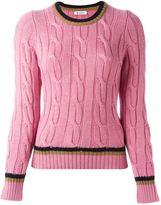 Dondup contrast stripe jumper