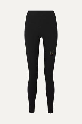 Lucas Hugh Performance V2 Mesh-paneled Stretch Leggings - Black