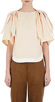 Chloé Women's Twill Tied Bow Top