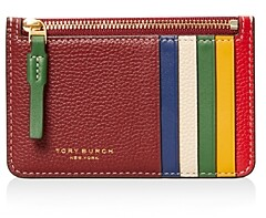 Tory Burch Perry Color Block Zip Card Case