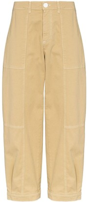 See by Chloe Cropped Gabardine Denim Trousers