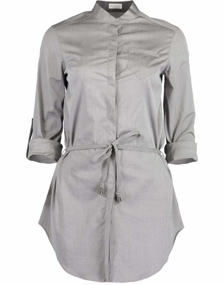 Brunello Cucinelli Tab Sleeve Belted Tunic