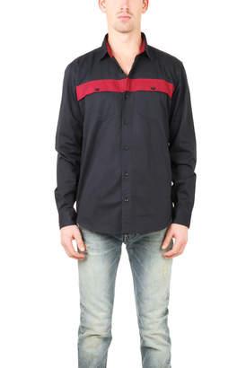 Warehouse Lucio Castro Colorblocked Button Down Shirt