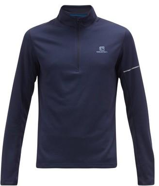 Salomon Agile Half-zip Technical-jersey Top - Navy