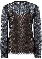 Alexander Wang perforated lace top