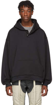 Fear Of God Black Everyday Henley Hoodie