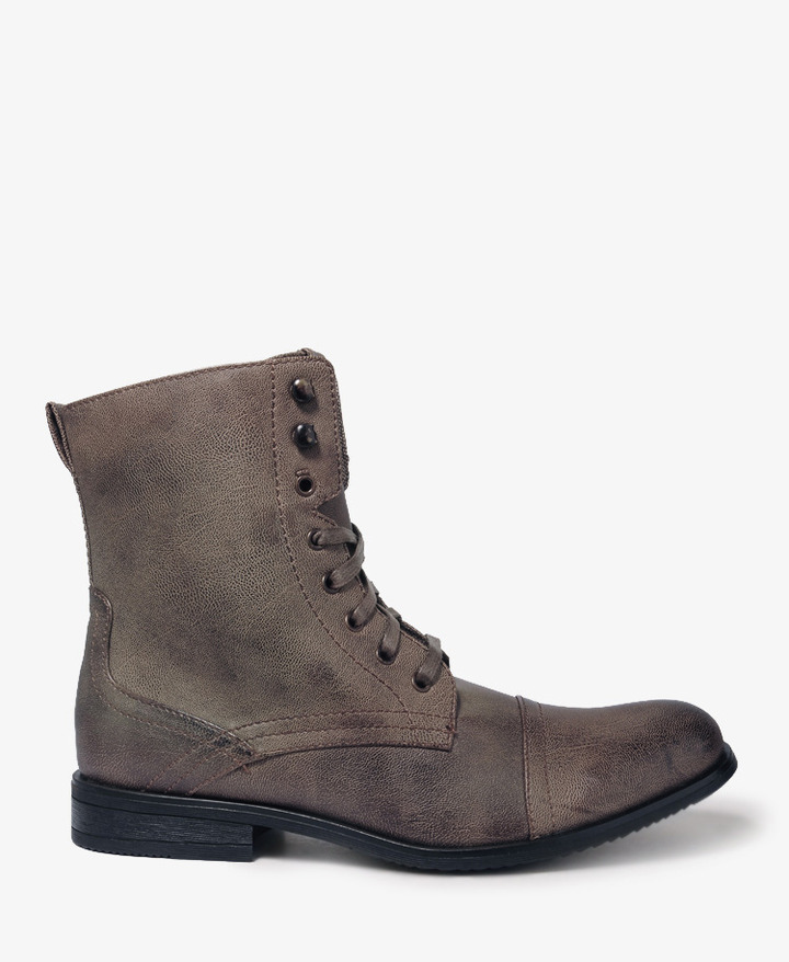 Forever 21 21 MEN Faux Leather Combat Boots