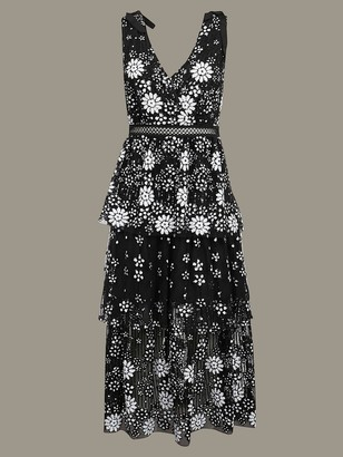 Self-Portrait Dress With Floral Embroidery