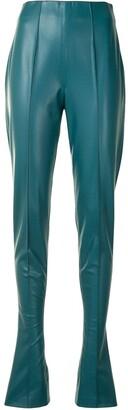 Sally LaPointe Split-Hem High Rise Trousers
