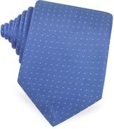 Forzieri Mini Dot Seven Fold Woven Silk Tie