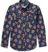 Engineered Garments Floral-Print Cotton-Flannel Western Shirt