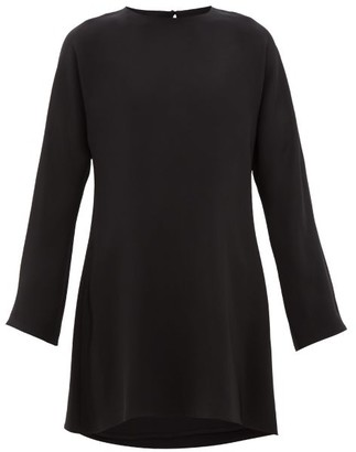 La Collection - Bianca Dolman-sleeve Silk-crepe Dress - Womens - Black