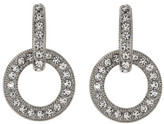 Nadri Open Link Crystal Pave Drop Earrings