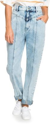 Roxy World Wide Woman Seamed Ultra High Waist Mom Jeans