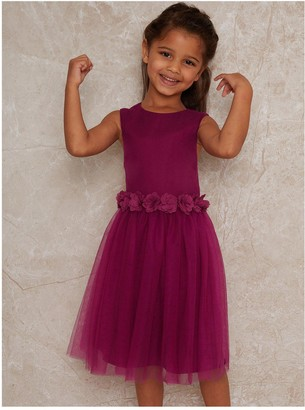 Chi Chi London Girls Fawna Dress - Bright Pink