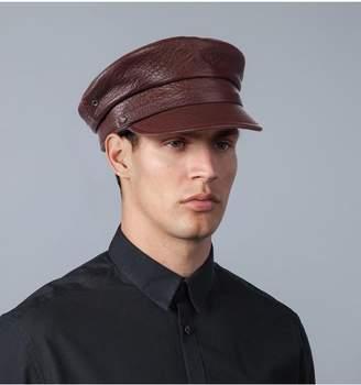 Eric Javits Leather Baltic Cap - Ml - Cognac