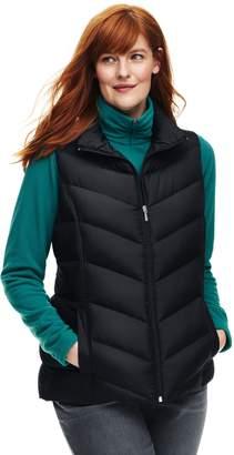 Lands' End Lands'end Women's Plus Size Petite Down Puffer Vest