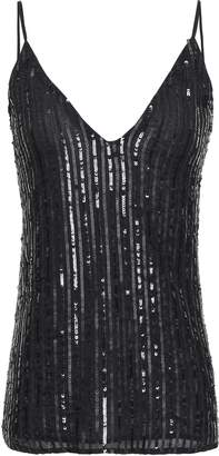 L'Agence Gabriella Sequin-embellished Georgette Camisole