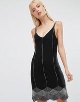 Maya Cami Scallop Hem Dress With Embellishment