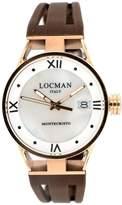 Locman Women's 34mm Rubber Band Titanium Case Quartz Watch 0521v13-Rrmw00sn