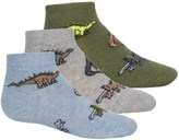 Jefferies Socks Dino Socks - 3-Pack, Ankle (For Toddlers and Little Kids)