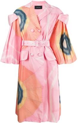 Simone Rocha Graphic-Print Coat