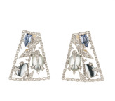 Alexis Bittar Mosaic Lace Clip Earrings