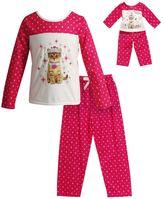 Dollie & Me Girls 4-14 Kitten Queen Pajama Set
