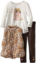 Kids Headquarters Girls 2-6X Animal Print Vest With Long Sleeve Tee And Pant