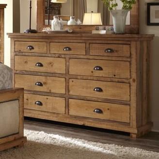 Castagnier 9 Drawer Double Dresser Lark Manor Color: Distressed Pine