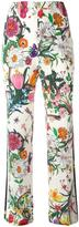 Gucci Flora Snake print trousers - women - Silk - 40