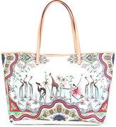 Etro zoo print tote bag - women - Cotton/Nylon/Polyester/PVC - One Size