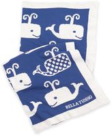 B.ella Tunno Whale On Favorite Blanket in Blue