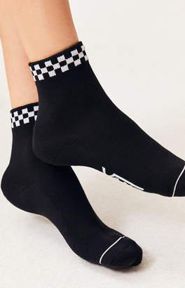 Vans Black Peek A Check Crew Socks