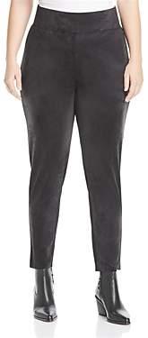 Seven7 Jeans Plus Faux Leather Front Leggings
