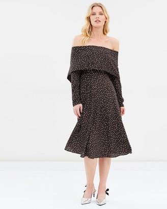 Pippa Fold Back Midi Dress
