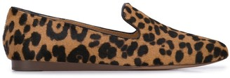 Veronica Beard leopard print loafers