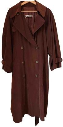 Jil Sander Brown Trench Coat for Women Vintage
