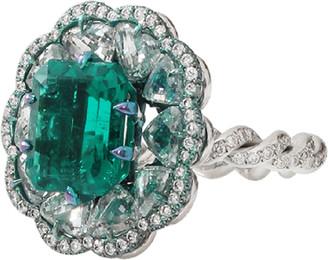 Arunashi Columbian Emerald And Diamond Ring