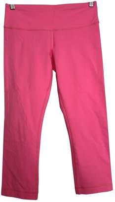 Lululemon Pink Spandex Trousers
