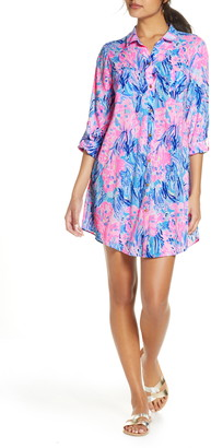 Lilly Pulitzer Natalie Print Cover-Up Shirtdress