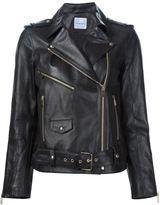 Anine Bing classic biker jacket - women - Lamb Skin - XS